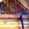 vine railing for loft with scrolling library ladder
