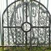 Custom Wrought Iron Gate.  Shown here before being powder coated.