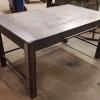 "Custom Metal Desk, 60"" long x 30"" tall,  shown here before powder coating.  This desk has a custom pull out drawer with compartments."