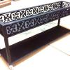 Custom wrought iron  Cart/shelf with casters