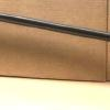 Standard Wall Mounted  Wall Rail. Tabs mount to wall. Shown here in a bronze color powder coated finish.